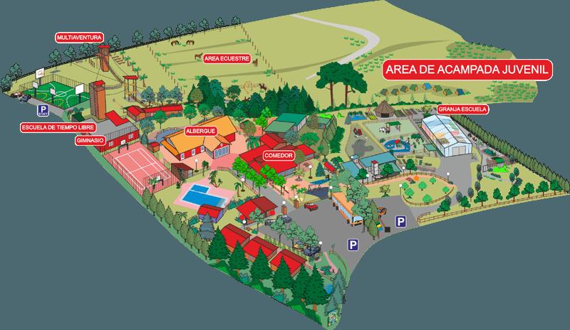 area de acampada